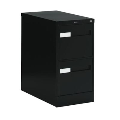 Global 2600 Plus Series Files, 2-Drawer, Legal-Size, Black W/LOCK W/RECESSED PULL20Y WARR FULL CRADLE SUSP. 26-1/2 DEPTH