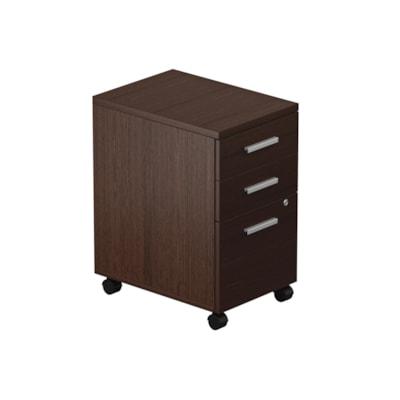 Caisson mobile à 2 tiroirs de rangement et 1 de classement Ionic Offices to Go, espresso foncé ESPRESSO FONCE