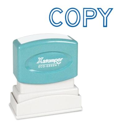 "Xstamper Stock Stamp, COPY, Blue Ink, 1/2"" x 1 5/8"" 1/2"" X 1-5/8"""