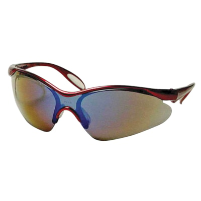 Dentec Miranda Safety Glasses, Burgundy Frame/Blue Mirror Lens LENS  BURGANDY FRAME PADDLE TEMPLES  CSA