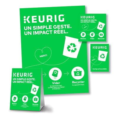 Boîte K-Cycle du programme de recyclage de capsules K-Cup de Keurig pour les clients commerciaux, grand format, capacité de 400 KCUP CAPACITY 400 9.75 X 9.75 X 23.75