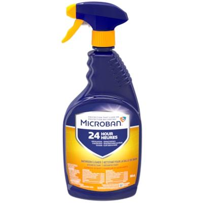 Microban 24 Hour Bathroom Cleaner, Citrus Scent, 946 mL