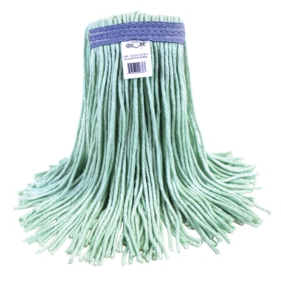Globe Commercial Eco-Pro 24 Oz Narrow-Band Mop, Cut End MADE OF 100% RECYCLED MATERIAL CUT END  LAUNDERABLE