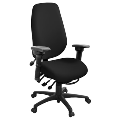 ergoCentric geoCentric Multi-Tilt Extra-Tall High-Back Chair, Black MULTI TILT  AIR LUMBAR LATERAL SWIVEL ARM