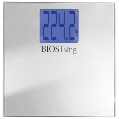 "BIOS Living Jumbo Bariatric Scale with Tempered Glass Platform 550 LBS CAPACITY 4"" X 3½"" / 10.6 X 9 CM"
