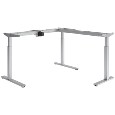 HDL Olympus Electric Height-Adjustable Table 3-Leg Base, Silver SILVER FINISH 27.75 TO 45.5 H ADJUST