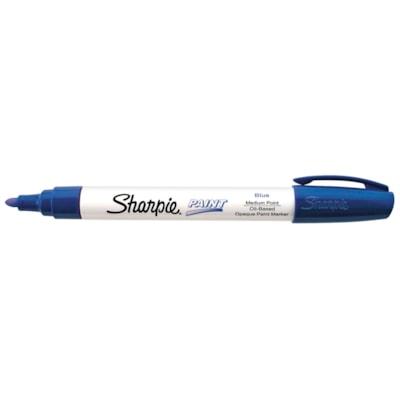 Sharpie Oil-Based Opaque Paint Marker, Blue, Medium Tip
