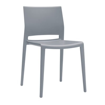 Global Bakhita Stacking Chair, Alloy POLYMER INDOOR / OUTDOOR CHAIR ALLOY