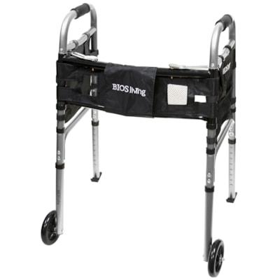BIOS Living Deluxe Folding Walker with Wheels, Silver SILVER  DELUXE
