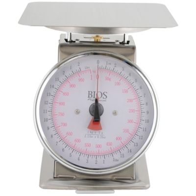 BIOS Living Mechanical Scale, 2.2 Lb Capacity 50 GRAM INCREMENTS STAINLESS PLATFORM  6 X 6