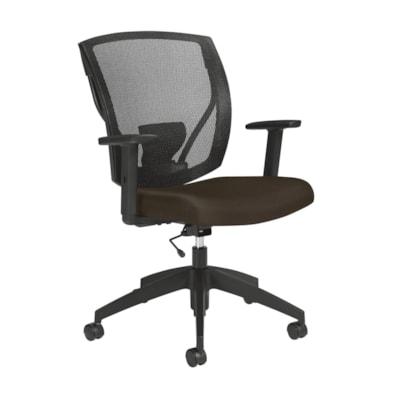 Fauteuil multitâche Ibex Offices to Go, Siège en cuir reconstitué Luxhide marron foncé