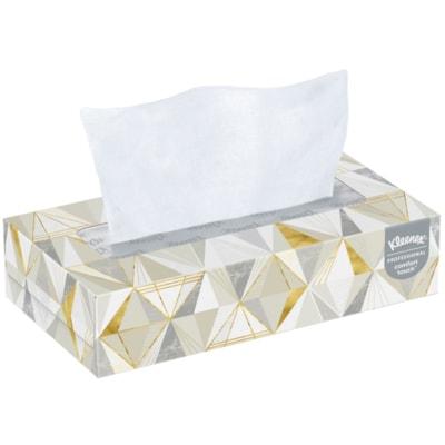 Kleenex 2-Ply Flat Box Facial Tissue, White, 125 Sheets/BX, 12/CT 12 BX/CTN 2-PLY FLAT BOX