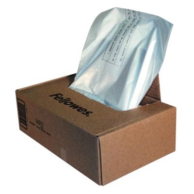 Sacs pour déchiqueteuses Powershred Fellowes séries 2399 et 484, transparent, boîte de 50 PR POWERSHRED 410/710/810/910 50/CTN
