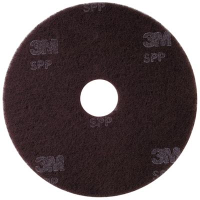 "Scotch-Brite Surface Preparation Floor Pads, Brown, 17"", 10/BX 17""  10/BOX SCOTCH-BRITE"