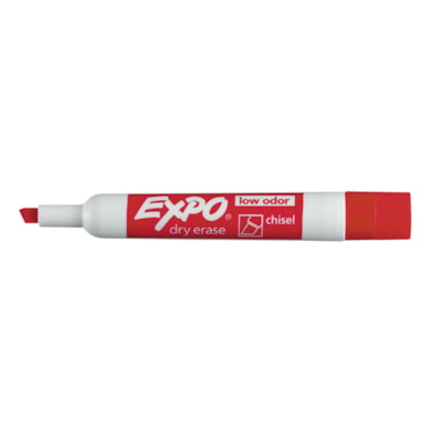 Expo Low-Odour Dry-Erase Marker, Red, Chisel Tip LOW ORDOUR DRY ERASE MARKER