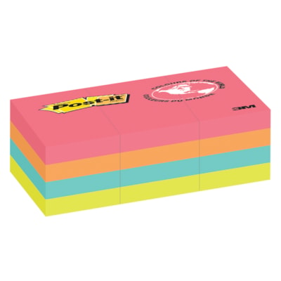 """Post-it Original Notes in Cape Town Colour Collection, Unlined, 1 1/2"""" x 2"""", 100 Sheets/Pad, 12 Pads/PK IN CAPE TOWN COLOUR COLLECTION TO MOST SURFACES 100/PAD"""