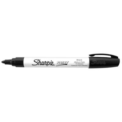 Sharpie Oil-Based Opaque Paint Marker, Black, Medium Tip