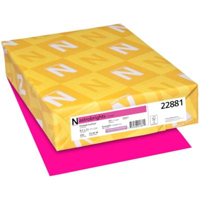 Papier couverture Astrobrights Neenah, couleur fuchsia Fireball Fuchsia, format lettre, certifié FSC et Green Seal, 65 lb, rame FSC LASER INKJET GUARANTEED FIREBALL FUCHSIA