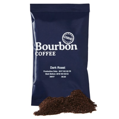 Bourbon Dark Roast Ground Coffee, 42/CT 42 X 2.25OZ  GROUND MEDIUM / DARK ROAST
