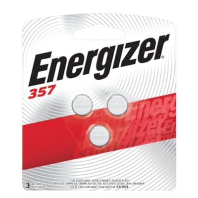 Energizer 357 Silver Oxide Button Cell Batteries, 3/PK  SILVER OXIDE