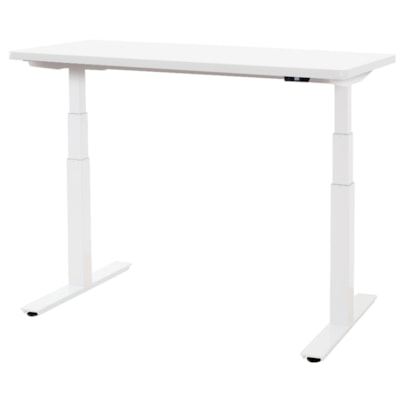 """ergoCentric upCentric Height-Adjustable Table, Designer White, 30"""" x 60"""" 30""""X60""""  ELECTRIC W 2 GROMMETS WHITE FRAME  WHITE TABLE TOP"""