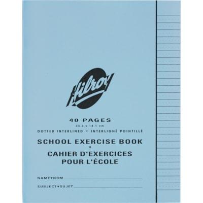 Cahier d'exercices pour l'école Hilroy LIGNES POINTILLEES  INTERLIGNE 40 PAGES  9 1/4X7 1/4 PO