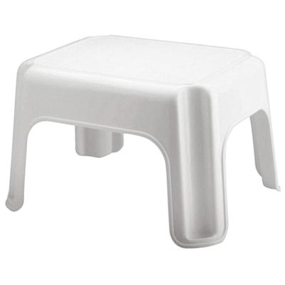 Escabeau 1 marche Roughneck Rubbermaid Commercial Products®, blanc 15.5X12.5X9.5 4200