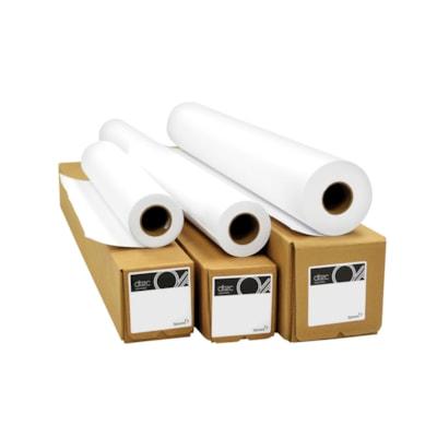 """Rouleau de papier bond reprographique d'ingénierie dtec, sans ruban, 24 po x 500 pi, boîte de 2 24""""X500'  3"""" CORE  UNTAPED 2 ROULEAU PAR BOîTE"""