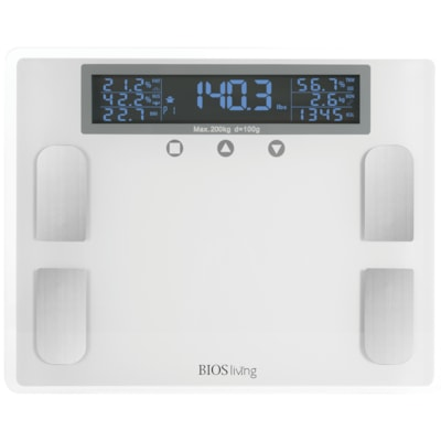 BIOS Living Premium Body Fat Scale 441 LBS CAPACITY 7 DIFFERENT READINGS