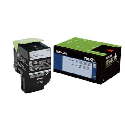 Lexmark 701C Black Standard Yield Return Program Toner Cartridge (70C10K0) RETURN PROGRAM 1000 PAGE YIELD