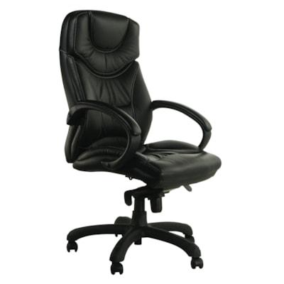 Horizon Activ Executive High-Back Tilter Chair, Black CHAIR KNEE TILTER BLACK LEATHR HORIZON