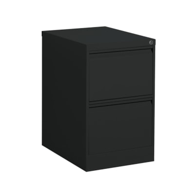"Offices to Go Marvel Vertical File, 2 Drawer, Black, 18 1/4"" x 25"" x 29"" BLACK"
