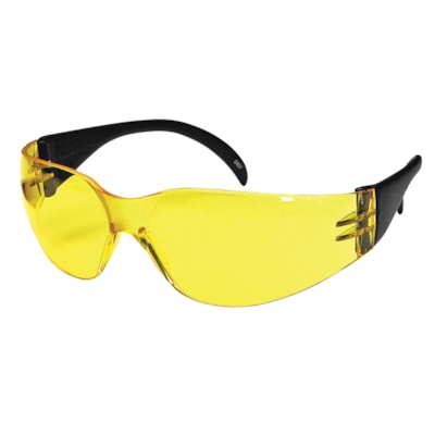 Dentec CeeTec Safety Glasses, With Yellow/Amber Lens LENS  RUBBERIZED TEMPLES CSA