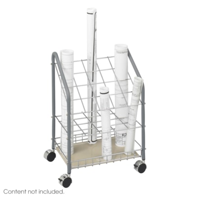Safco 20-Compartment Tubular Steel Wire Roll File, Light Grey TUBULAR FILE 20 COMPARTMENT LIGHT GREY