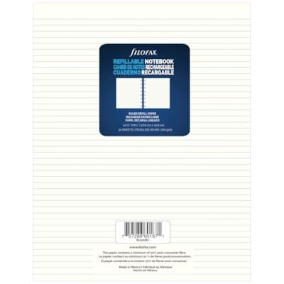 Feuilles lignées pour carnet rechargeables Filofax, crème, 8 1/2 po L x 10 7/8 po H, emb. de 32 32 FEUILLES LIGNéES PAPIER CRèME