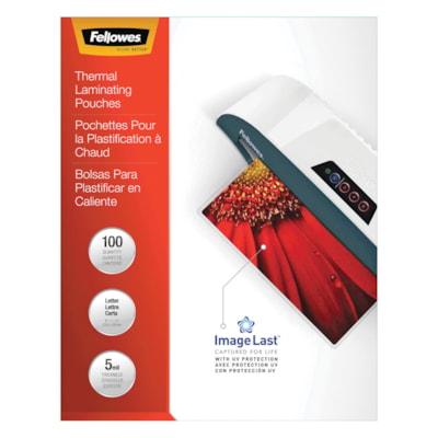 Pochettes de plastification à chaud format lettre Fellowes, Emballage de 100 FORMAT LETTRE  9X 11 1/2PO FLÈCHES DIRECT.  EMB. DE 100