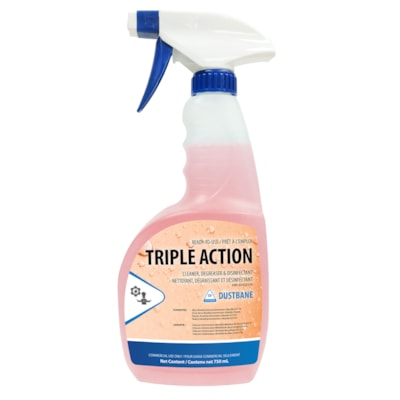 Dustbane Triple Action Liquid Cleaner, Degreaser and Disinfectant Ready-To-Use Spray, 750 mL SANITIZER 750ML