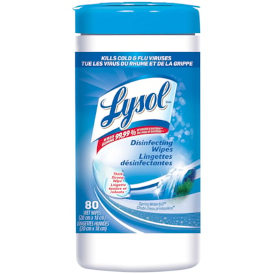Lysol Disinfecting Wipes, Spring Waterfall Scent, 80/PK SPRING WATERFALL SCENT