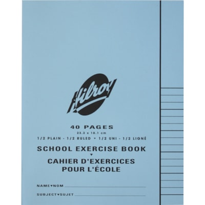 Hilroy School Exercise Book BLANK 1/2 RULED 40 PAGES