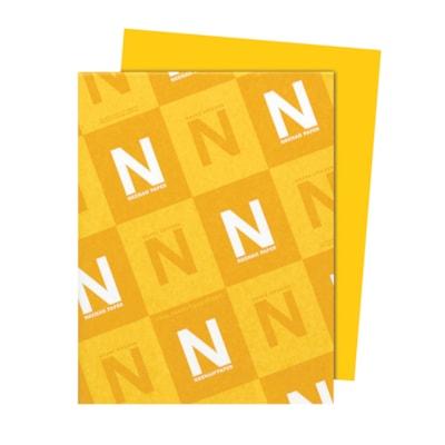 Papier Astrobrights Neenah, jaune solaire, format lettre, certifié FSC et Green Seal, 24 lb, rame FSC LASER JET D'ENCRE GARANTIE JAUNE SOLAIRE