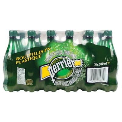 Perrier Sparkling Water, 500 mL Plastic Bottles, 24/CS SPARKLING WATER  PLASTIC BTLE
