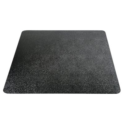 "Deflecto EconoMat Smooth-Back Vinyl Chairmat for Hard Floors, Black, 46"" x 60"" (CM21442FBLK) 46""X60"" RECTANGULAR BLACK- NON-STUDDED"