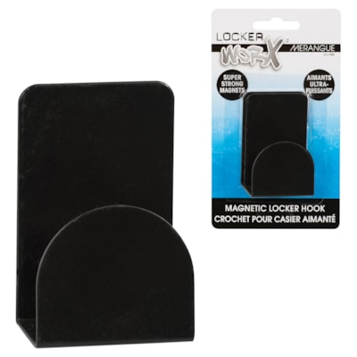 Crochet magnétique ultrapuissant Merangue, capacité de 8 lb, noir SUPER MAGNETIC COAT HOOK BLACK