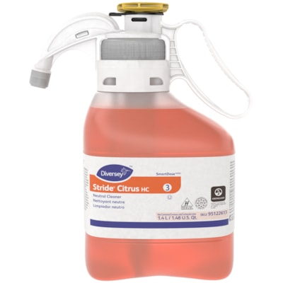 Diversey Stride SmartDose Citrus Neutral Cleaner, 1.4 L SMARTDOSE