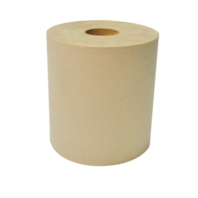 """Dura Plus 1-Ply Diamond Hand Paper Towels, Brown, 600', 12/CT 12 RL 8"""" X 600' BIODEGRADABLE QUALITY PRODUCT"""
