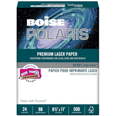 Boise Polaris Premium Laser Paper, FSC Certified, Ream 98 BRIGHT  24 LB  FSC