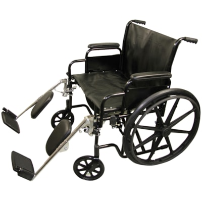 """BIOS Living Bariatric Wheelchair with Steel Folding Frame, 24"""" STEEL FOLDING FRAME LIGHTWEIGHT PVC UPHOLSTERY"""