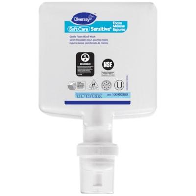 Diversey Soft Care Sensitive Foam Handwash Refills, Fragrance-Free, 1.3 L, 6/CT 1.3L  6/CASE