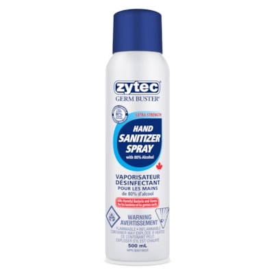 zytec Germ Buster Hand Sanitizer Spray, 80% Alcohol Content, 500 mL ZYTEC GERM BUSTER