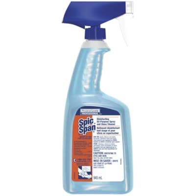 Spic and Span Disinfecting All-Purpose Spray and Glass Cleaner, 945 mL RTU Spray Bottle 00639